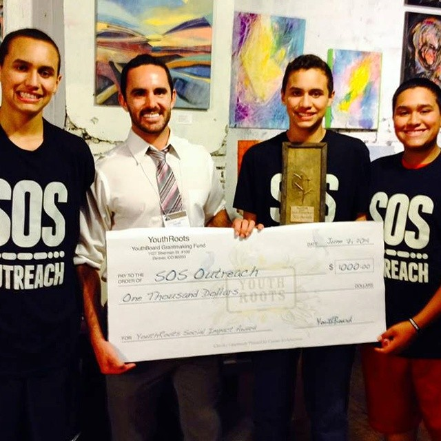 "This weekend, SOS Outreach's Denver participants accepted the @YouthRoots Social Impact Award""! SOS received the $1,000 grant for its efficacy in meeting the most pressing needs facing children and youth in the Denver metro area. The selection process..."