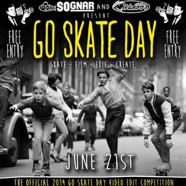@Wahoosfishtaco is hosting a Go Skate Day film competition on June 21st! 12 hrs to film and edit a skateboarding video, which will be shown at Wahoo's at 9pm. Free admission and a $500 cash prize! #goskateboardingday #spreadthelove #sognar #feelinit...