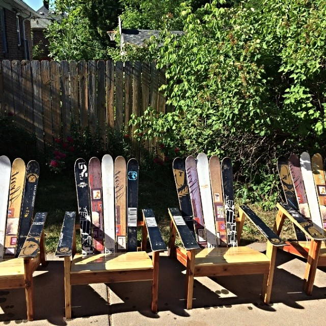 Upcycle your skis! @jhackbeez did some spring cleaning and churned out these beauties.  #riderowned #nofilter