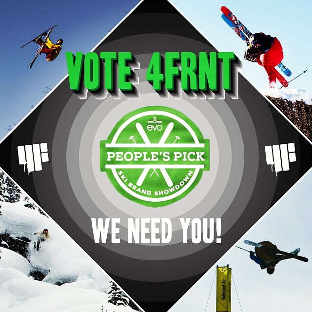 Wanna #win a $500 gift certificate to 4frnt.com? Here is what you need to do:  1. Go to www.evo.com/peoples-pick-ski-brand-showdown.aspx fill out the form and vote for 4FRNT  2. Repost this photo with these tags: @4frnt_skis  @evo #peoplespick4frnt  3....