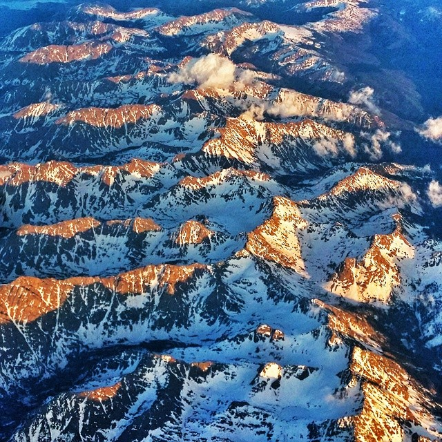 #Gorgeous flight over the #Rockies this evening.