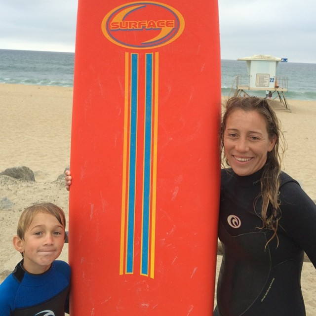Surf With Nicole this summer!  Benjamin did and he felt the pure stoke!  Thanks Nici #surfwithnicole #nicolepratt #benjaminstone #surfschool