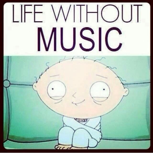 Music is life! #musicmotivates #musicinspires #stewie #familyguy #boombotix