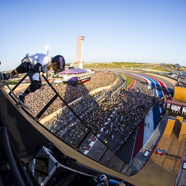 The view from up top! #xgamesaustin @tomschaar  Photo: @christianpondella