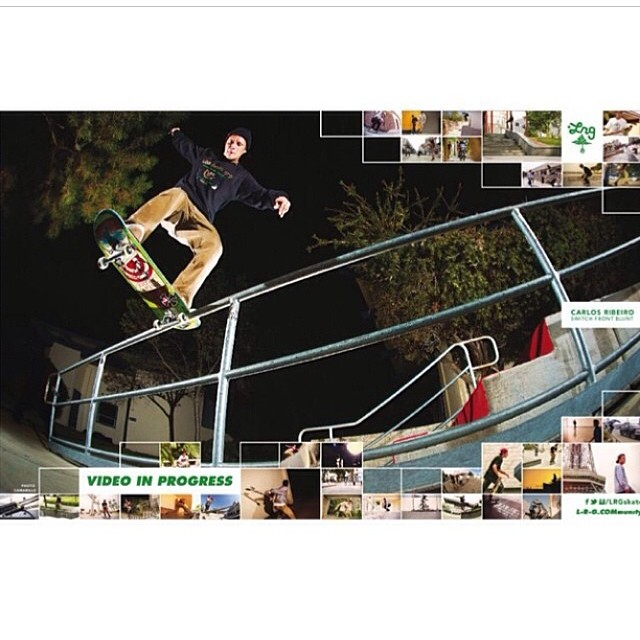@carlosribeiro91 's new @lrgskate ad for their new vid. From just the few tricks I've seen I can tell you his part is most likely going to be bonkers.