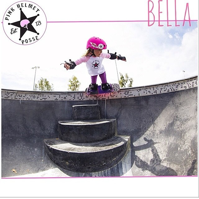 @bellakenworthy getting critical over the steps! @pinkhelmetposse #bulthelmets #bult