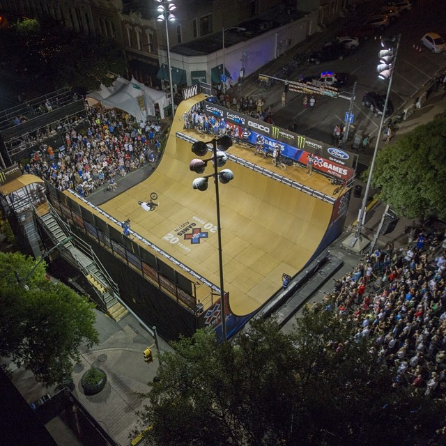 Bird's-eye view #xgamesaustin #BMXVert @jamiebestwick  Photo @ericbakkephoto