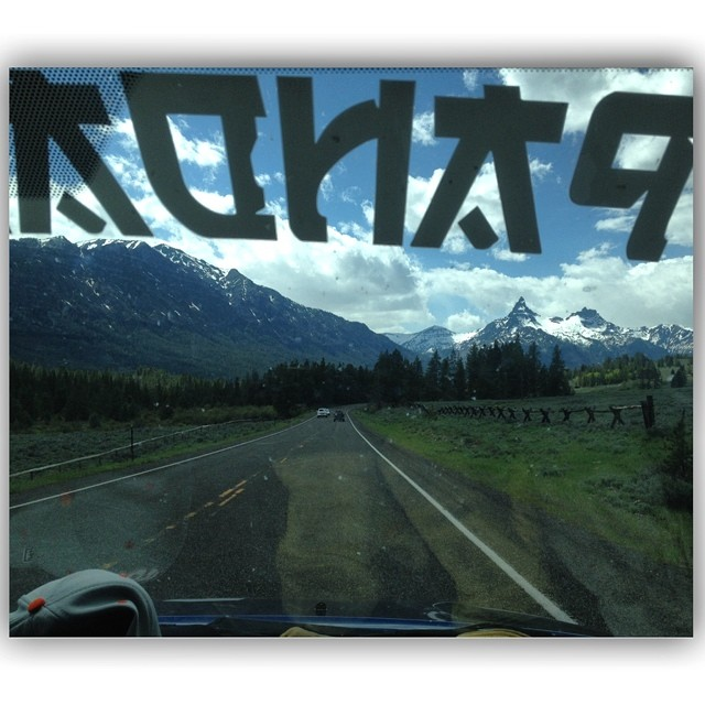 1st person perspective from the Panda Whip | June 8 | Just outside Cooke City, MT | Gloves dry on the dash |  Photo: @tansnowman  #PandaPoles #PandaWhip