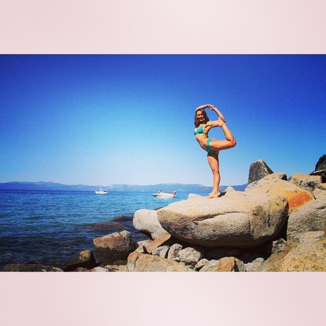 Loving this shot of @sehsa in #Tahoe. A real #mermaid on land and in the water!!