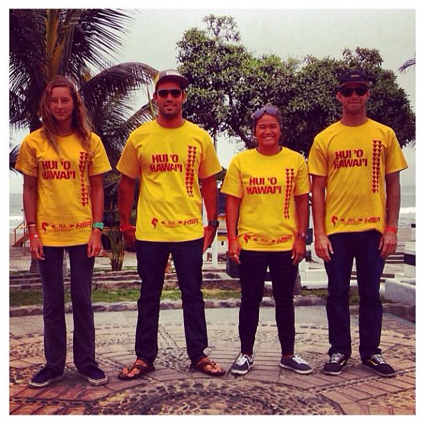 Hui 'O Hawai'i || Huanchaco, Peru || @kaisallas @nedsnow @megzgodinez @honoluablomfield || @isasurfing #ISAWLC #Hawaii #Peru
