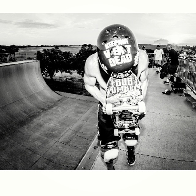 #bobumbel #keepingvertdead at #mounttrashmore @demonseedskateboards Bob wears the S1 #Lifer #Helmet