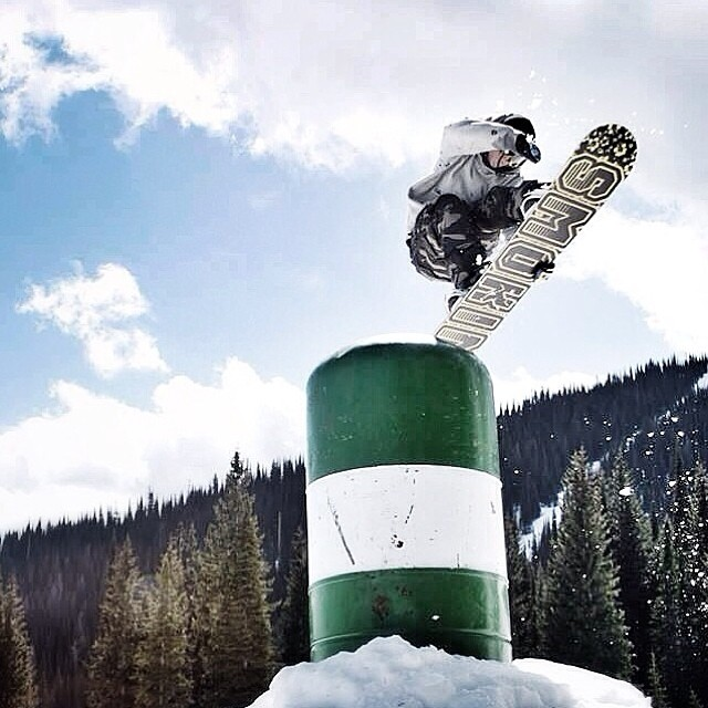 Schweitzer has a dope park- check Smokin young blood @austinvizz on his #smokinhooligan #forridersbyriders #handmadelaketahoe #OK