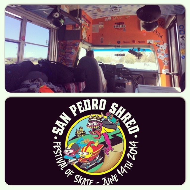 Super stoked to be headed down to the San Pedro Shred in the Sunset Sliders bus.  Southern California here we come!  #sunsetsliders #bonzing #sanpedroshred