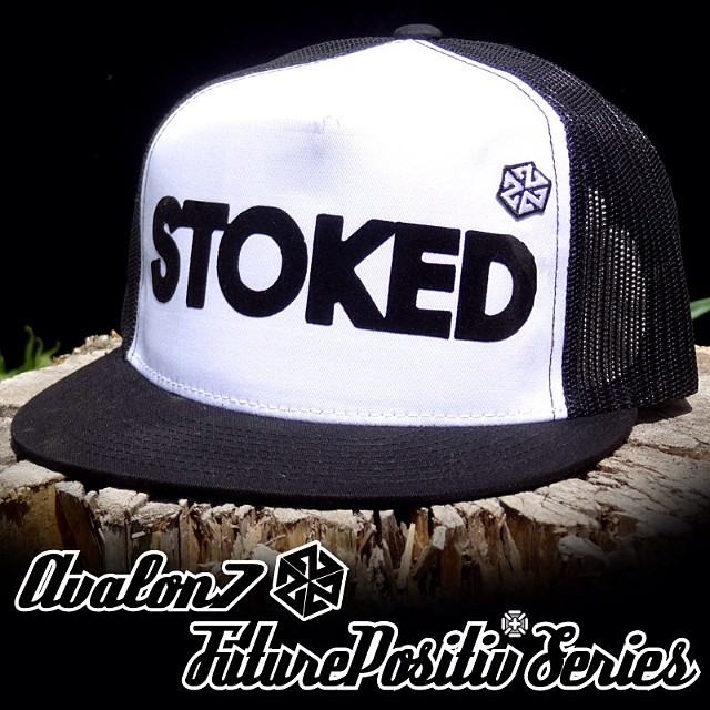 I just sent out one of these #stoked hats to a customer in AZ. I'm stoked he's stoked on our stoked SnapBack! Git yers here: www.avalon7.co #avalon7 #snapback #futurepositiv
