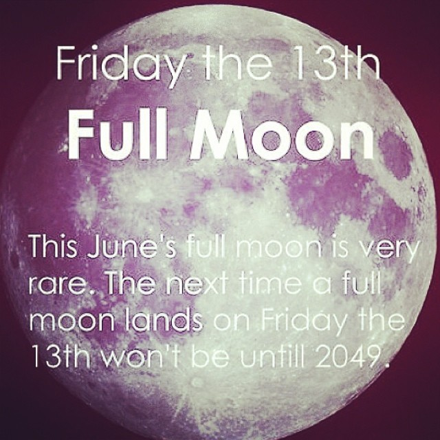Grab all your crystals and put them outside to soak up the full ✨ moonbeams ✨It's Friday the 13th and a full moon!