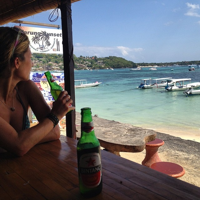 Really enjoying our time on #nusalembongan #bali #indo #bingtang #lunchbeers #travel #islandhopping #islandlife