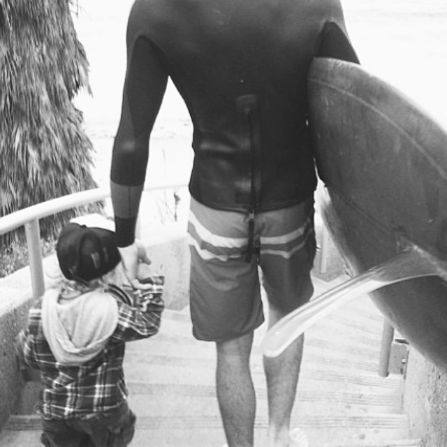~Happy Father's Day @gooch_d and to all you awesome surf dads out there! ~ #HotlineWetsuits #SantaCruz #FathersDay