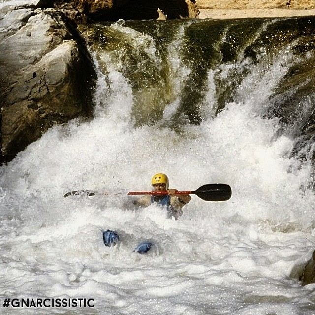 We had to post this shot from @damondoeseverything because the rest are beyond #GNARCISSISTIC. Check out the rest of the shots he shared with us on the #gnarcissistic hashtag feed. POW SNOW KAYAKING? Getting after it. #kayak