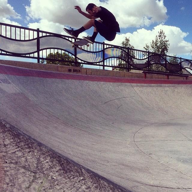 @josh_hawkins going large on this #fsflip in Fullerton, CA ☁