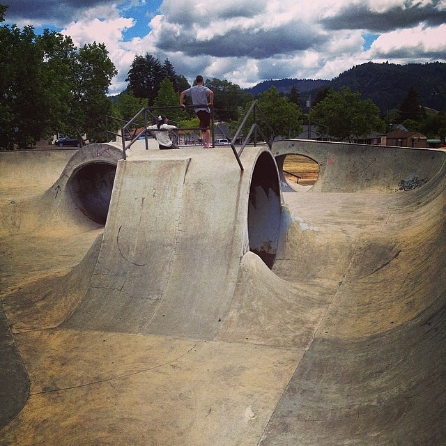 Regram @bradmcclain #myrtlecreek #skatepark by @dreamlandskateparks
