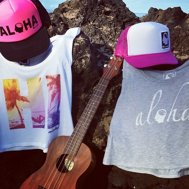 HI Minded ladies tank tops and trucker hats (ukulele sold separately). #himinded #surfshirt #surfcompany #maui #hawaii #aloha #truckerhat #beachgirl #beachbabe #ukulele #surfing #beach #808 #surfergirl #surfapparel #tanktops
