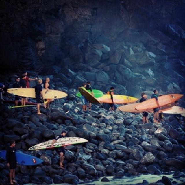 A typical morning commute on Maui. Photo M. Sanders #himinded #surfing #hawaii #maui #surfcompany #surfshirt #aloha #peahi #jaws