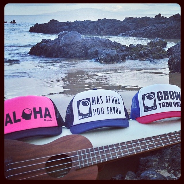A few of our new trucker hats... #himinded #surfing #surf #maui #hawaii #surfcompany #truckerhat #ukulele #aloha