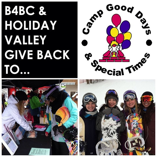 B4BC GIVE BACK WEEK // Camp Good Days  @HolidayValley Resort came together with @Boardroomeville Snowboard Shop to host its 6th annual #ShredTheLove board-a-thon event this past season. This tight-knit and incredibly passionate community raised nearly...