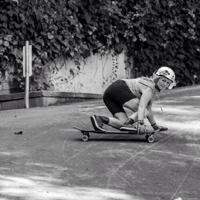 The Commander shot by Mark Nisbet. Miss you @amandapowellskate! #longboardgirlscrew #girlswhoshred #commander