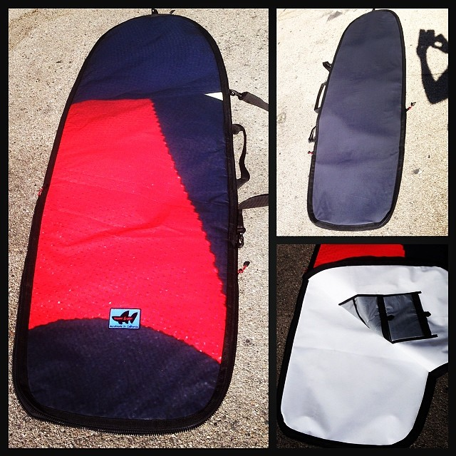 Wave Tribe custom #boardbag made from #upcycle billboard and hemp hesding to Christopher in NJ. #madeinusa