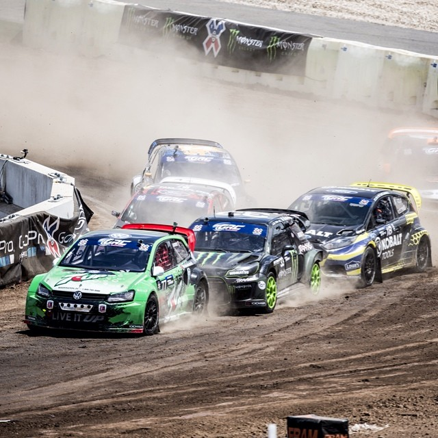 @scott_speed holding off the field on his way to RallyCross GOLD. #XGamesAustin