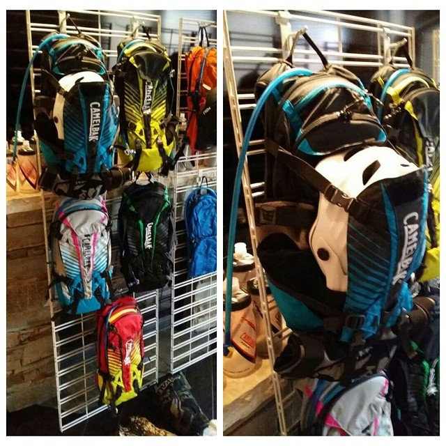 Excited to be at #dvpresscamp, check out the new @camelbak Kudu stage 2 back protector and hydration pack, we are excited to try ours out!