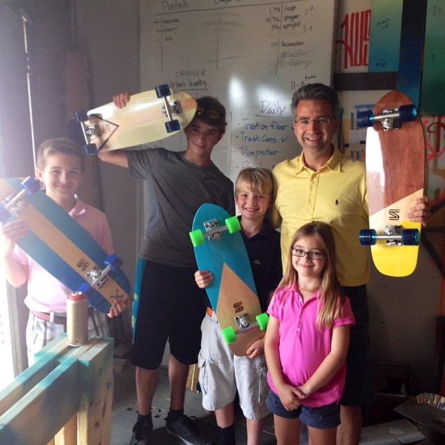 This family just picked up 4 new Salemtown boards! New boards hitting the site soon! #handmade #skateboard #nashville #surfnashville