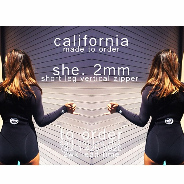 ~Order today!!~ #HotlineWetsuits #SantaCruz #MadeinCalifornia #Local #HandMade #BootySuit