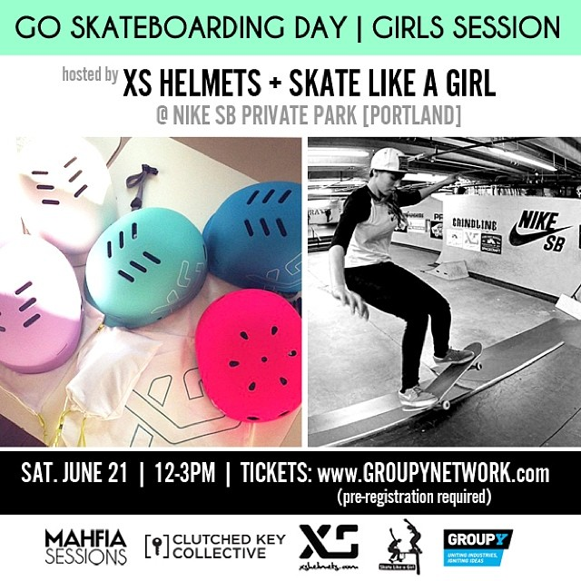Come to the all girls skate session  in Portland at Nike SB's private park this Saturday! Hosted by @xshelmets and @skatelikeagirl. Part of the #MAHFIASessions 3 day event. Pre-register for all 3 days or just the skate session at www.groupynetwork.com...