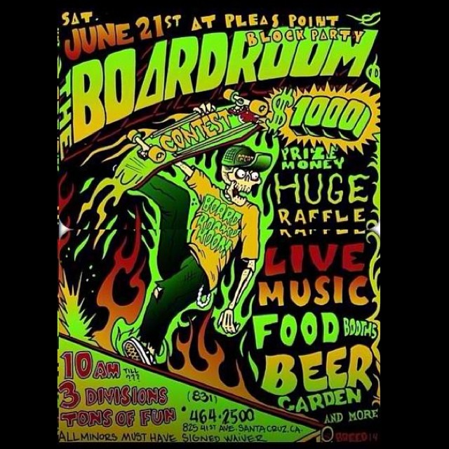 Party at @scboardroom go #skateboarding day! #gsd #calibertrucks is hosting a best trick contest at the event! Stop by if you're in the SC area. The boardroom rules! Follow them ASAP! #pleasurepoint #41st_ave #largestcruiserboardselection in #norcal