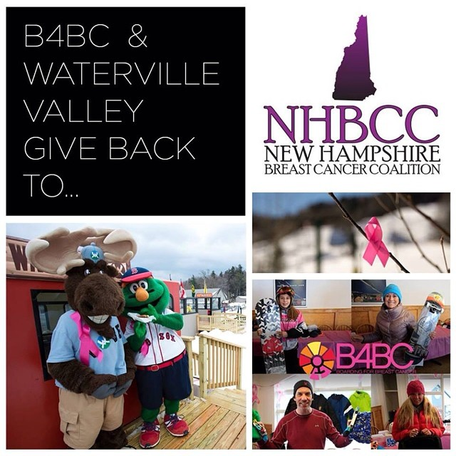 B4BC GIVE BACK WEEK // New Hampshire Breast Cancer Coalition Waterville Valley Resort hosted their 9th annual #ShredtheLove Rail Jam in #NewHampshire with B4BC, and we joined forces with the New Hampshire Breast Cancer Coalition to raise funds...