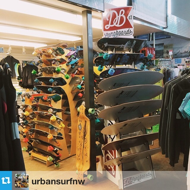 @urbansurfnw is your spot in #seattle for all things DB. Rad shop run by #awesome people!#urbansurf #atlastruckco #cloudridewheels #dbskimboards --- We are approaching a world record number of longboards in our little skate corner. Say hello to the...