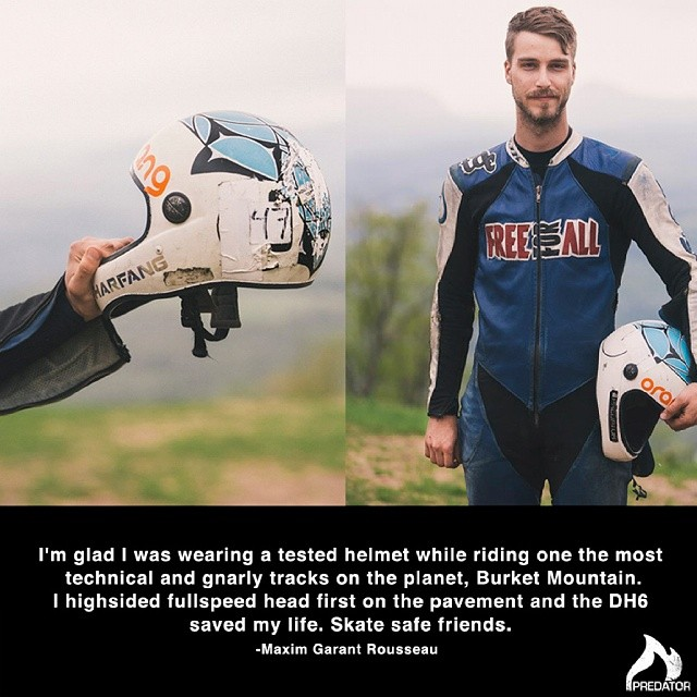 Every so often we get a email like this one from Maxim Garant Rousseau who had a nasty fall racing Burke Mountain a few weeks ago. We're stoked you're ok Maxim and thanks for the kind words.  Photos provided courtesy of Olivier...