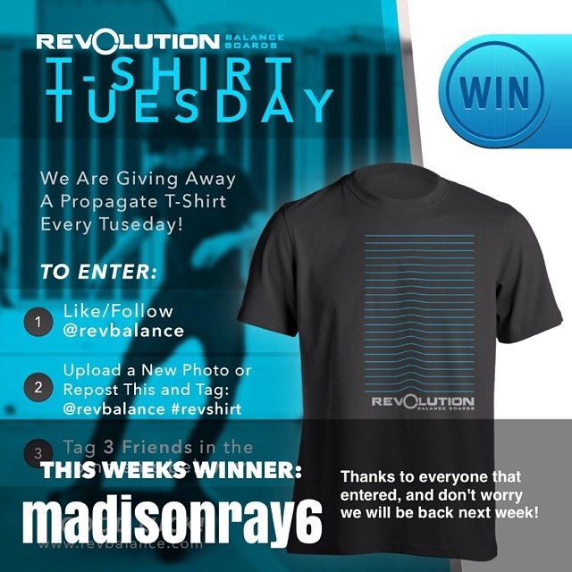 Congrats to @madisonray6 for being this weeks T-shirt winner! Give her a follow and be sure to enter next Tuesday!