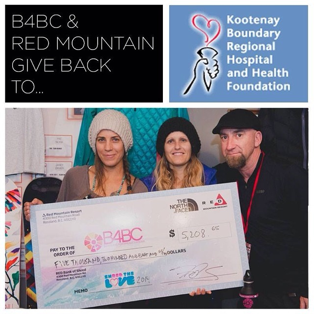 B4BC GIVE BACK WEEK // Kootenay Boundary Regional Hospital @RedResort in Rossland, B.C. hosted their 2nd annual #ShredTheLove event this past season: a day was full of riding and education on the hill, followed by a rockin' @PickwickMusic concert at...