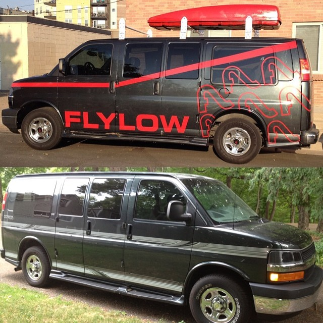 The Flylow #Ateam van has grown up so much over the past couple yrs. #tbt #vanlife #bigrig #roadtrippin14