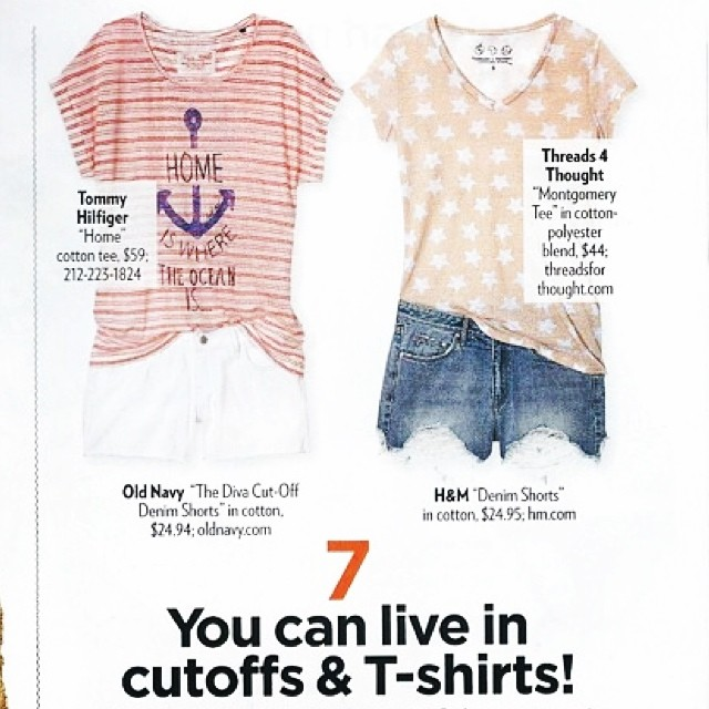 We're #7 of 20 reason to live is cut-offs and a tee! #love #summer #style #july #fashion #beach @peoplestylewatchmag #ootd #iotd #styled