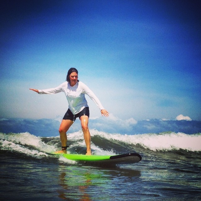 When you are learning to surf, it's important to feel safe in your surroundings. Small waves or the ability to catch white water, minimal current, sandy and gradually deepening ocean floor, and warm water can contribute greatly to your learning...