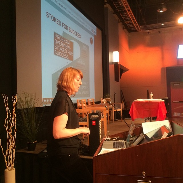 The #STOKEDorg team was invited to present on how we link action sports culture to teach 21st century skills at the #engage2014 put on by the Philadelphia youth network! Here's our new Director of Programs and Operations Antonia talking about our model.