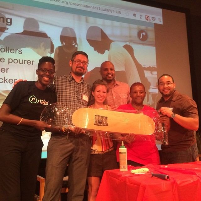 We just taught some Philly youth development professionals how we teach life and career skills through building a skateboard! #engage2014 #roarockit