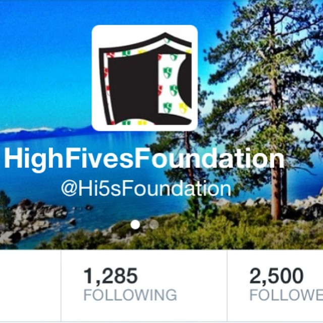 #2500 Followers on @twitter | thanks for all the support and if you don't follow our tweets, please follow @hi5sfoundation