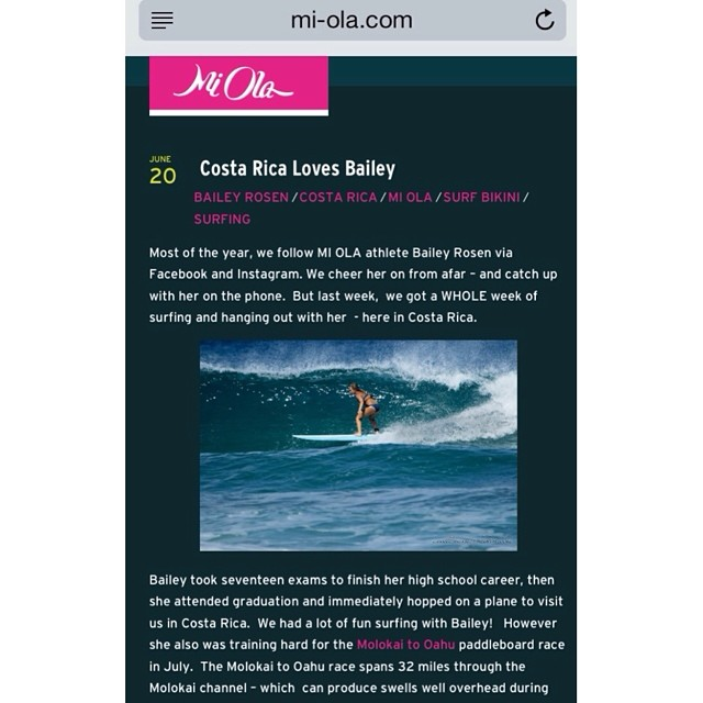 Happy International Surfing Day! Not only can Mi Ola Athlete Bailey Rosen SUP but she also is a beautiful surfer! Check out Bailey's surf trip to Costa Rica on the Mi Ola blog! Mi-Ola.com/blog #miola #miolainaction #puravida #costarica @bailey.rosen