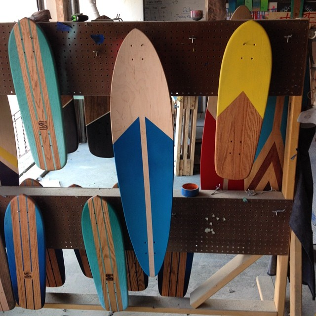 So many boards getting painted up today. #handmade #skateboard #nashville #surfnashville