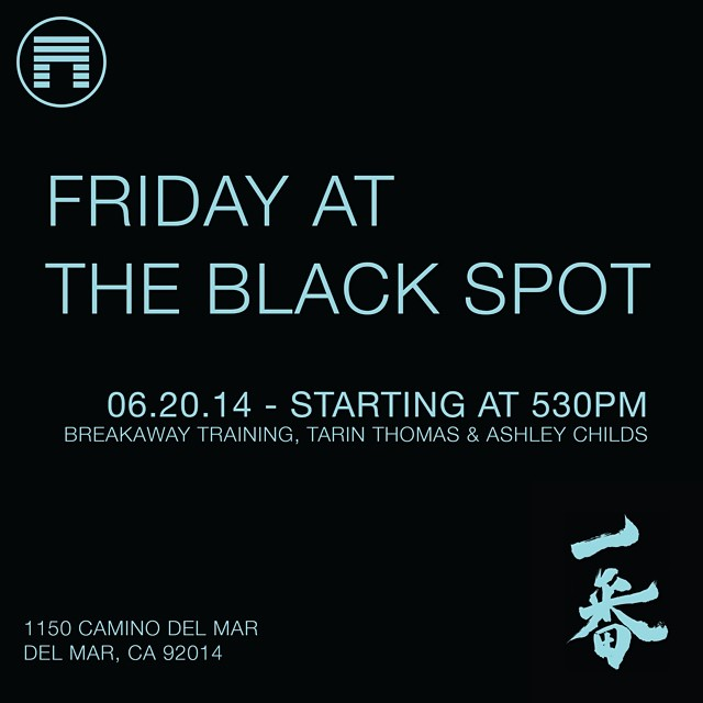 Come kick it this evening at the new Matuse Black Spot HQ. enjoy some refreshments and meet our friends @breakawaytraining @tarin_thomas & @ashleychildsstudio #lovematuse #blackspot